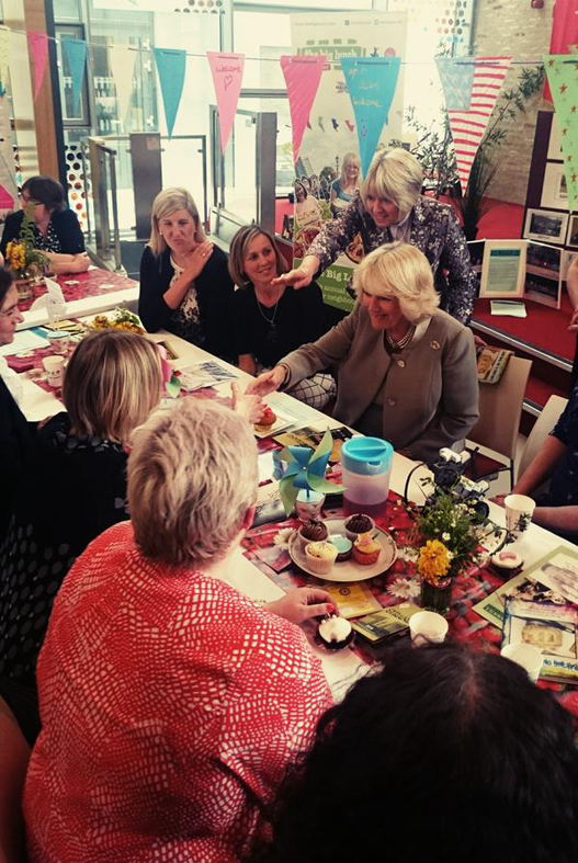 HRH The Duchess of Cornwall joins Community Assistants at Big Lunch event