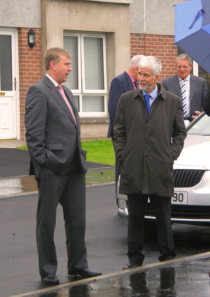DSD Minister Storey visits our new scheme at Laurelvale Close, Crumlin