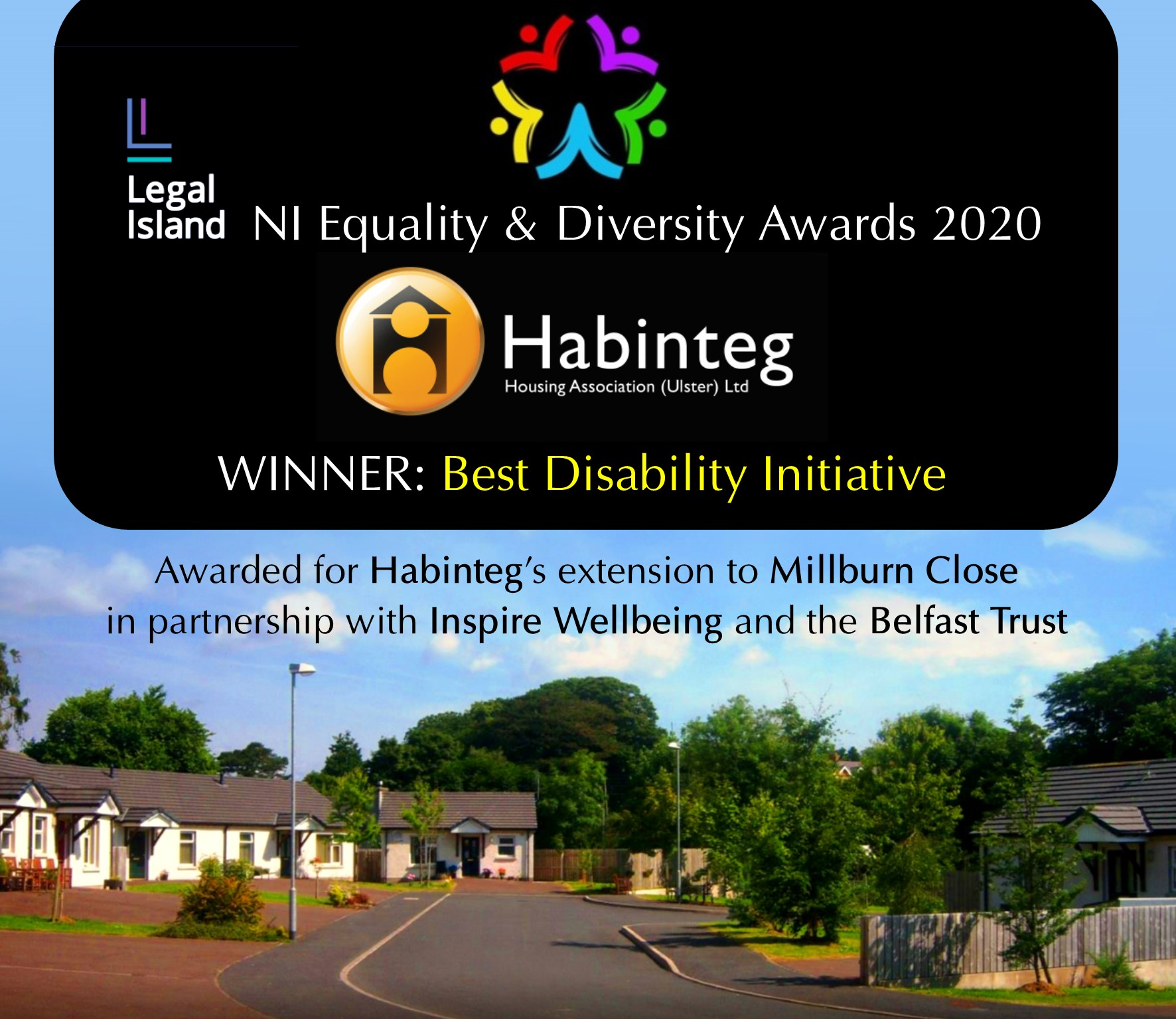 Habinteg winner of Best Disability Initiative at NI Equality and Diversity