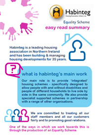 Easy Read| Habinteg Equality Scheme| Housing NI